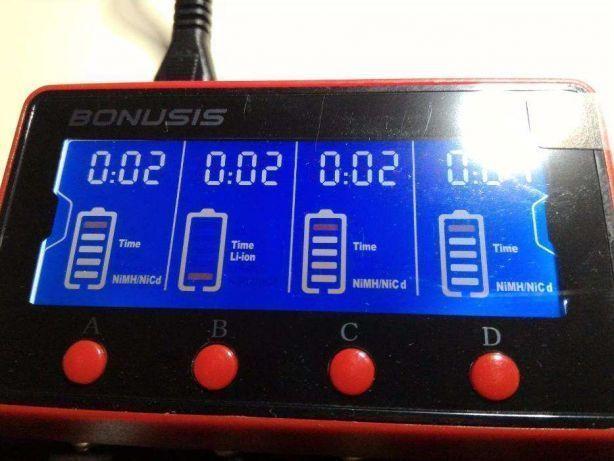 Incarcator inteligent LCD acumulatori Li-ion LiFePO4 Ni-MH Ni-Cd