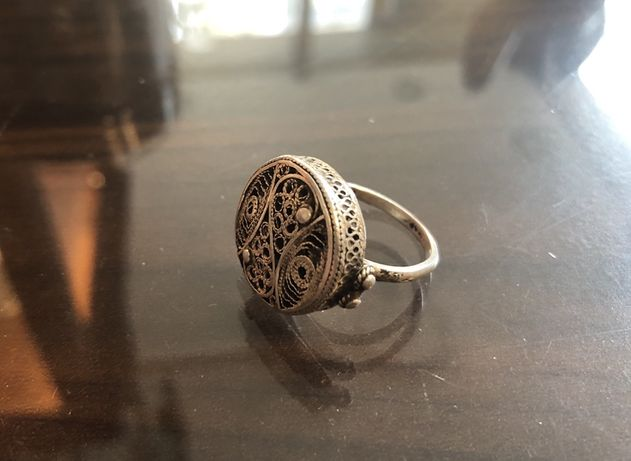 Inel vechi argint filigranat