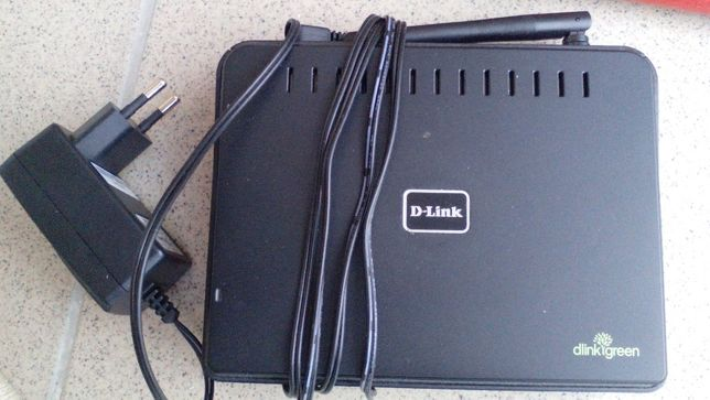 Router D-Link green GO-RT-N150