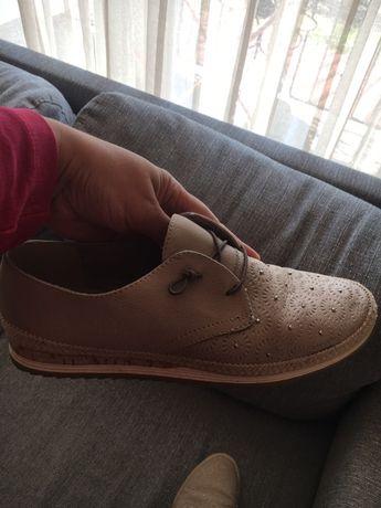 Нови ежедневни обувки от ест.кожа 37ном.-Marco tozzi