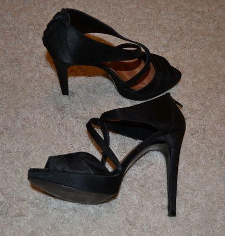 Sandale dama, ZARA, satin, marimea 38