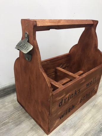 Щайга/кошница (six pack)за бира ръчна изработка