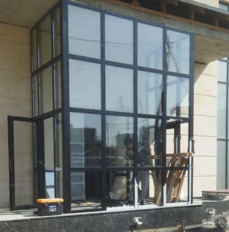 Алюминиевые Пластиковые Окна двери витражи изотовление установка