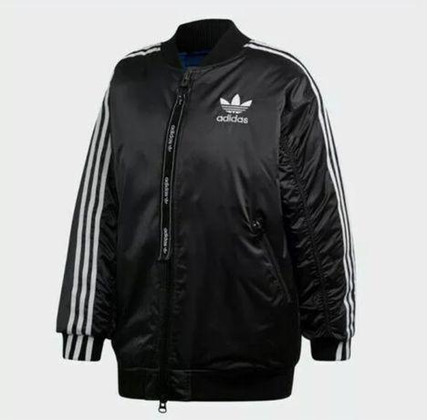 Adidas бомбер женская куртка (новая) размер M, но подходит на L и XL