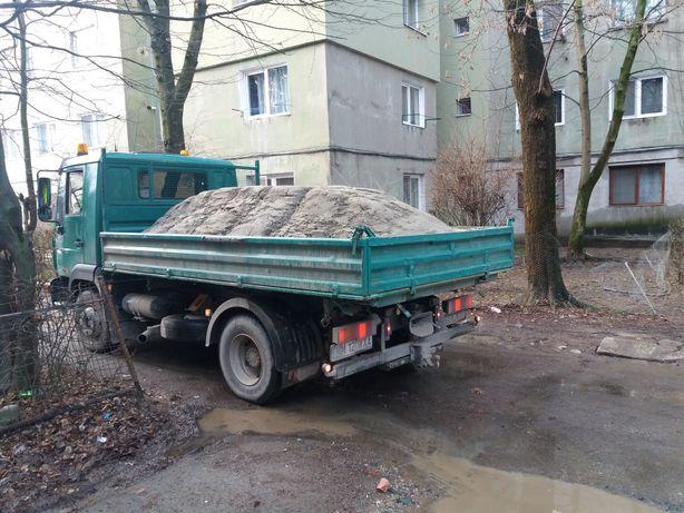 Transport nisip balast pământ vegetal!