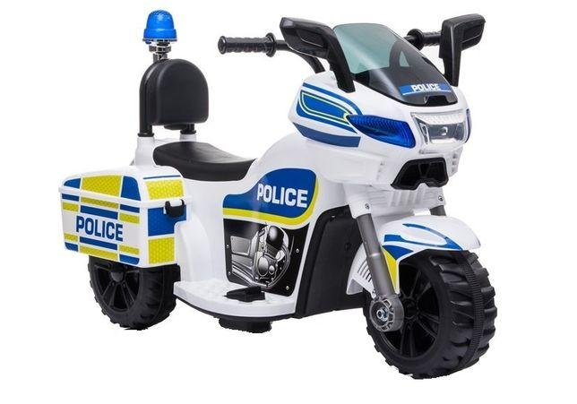 Mini Motocicleta electrica Police Motorbike TR1912 STANDARD #Alb