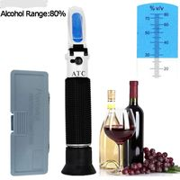 Спиртомер рефрактомер за ракия спирт уиски високо алкохолни напитки