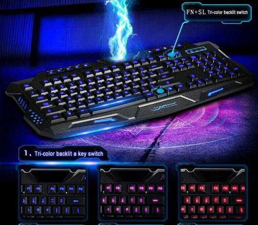 Новая игровая клавиатура с подсветкой кнопок 3 цвета Алматы