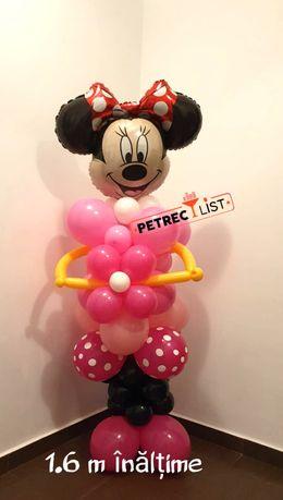 Figurina minnie sau mickey din baloane