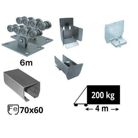 Kit SAP-70x60-Fe Sistem autoportant cu sina de fier pentru deschidere