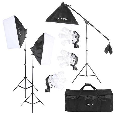 Lumini studio, kit softbox pentru studio, lumina difuza, 5500k
