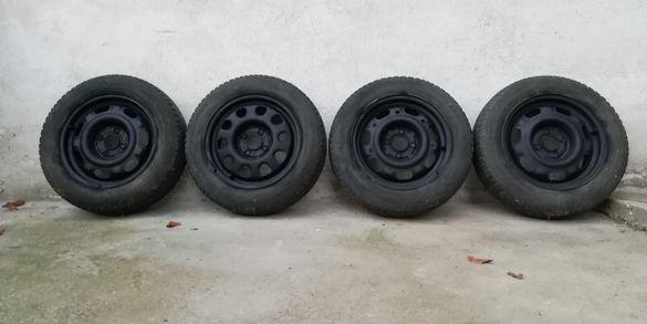 Железни джанти 4x100/14 със зимни гуми за VW, Opel, Seat