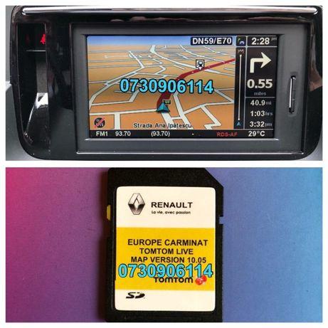 Renault Carminat R-LINK Tomtom Live Harti GPS 2019 Clio Megane Scenic