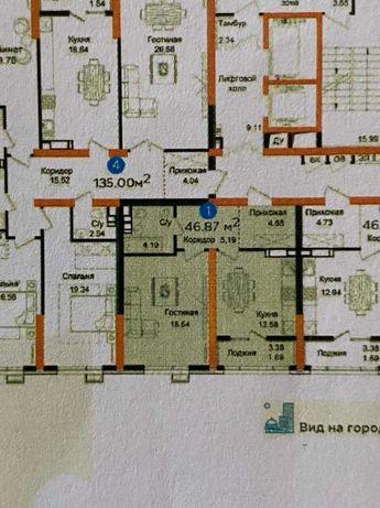 Однокомнатная квартира в Алматы