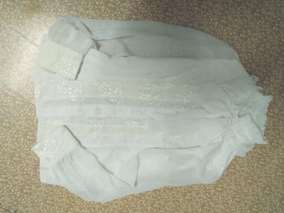 Белая блузка с бантом Рудный - сурет 1