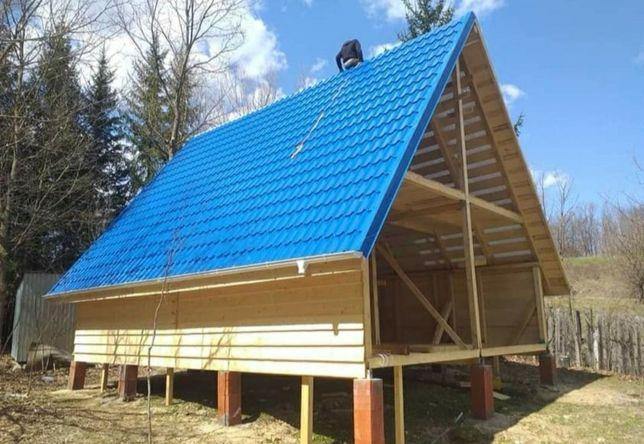 Case garaje containere cabane lemn tip A