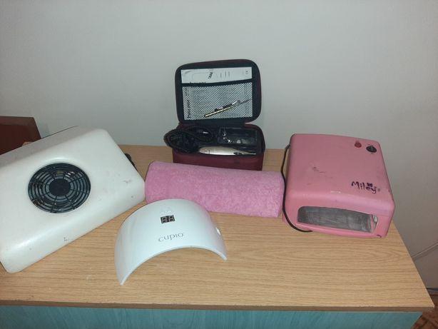 Kit unghii,2x lampă, aspirator și freză