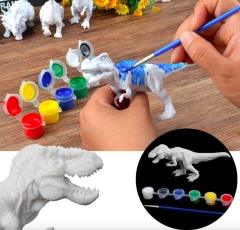 Set de Pictat culori acrilice- Coloreaza Dinozaurul