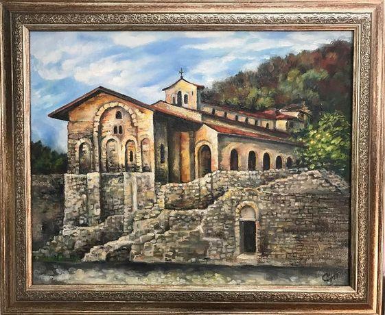 Църковен комплекс - картина с маслени бои от PenichArt