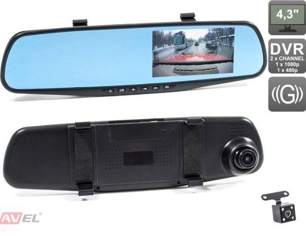 Зеркало заднего вида с регистратором и камерой заднего вида
