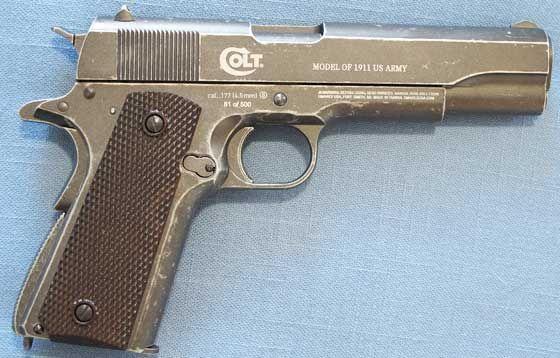 Pistol Modificat PUTERNIC (Airsoft Cu Aer Comprimat) Co2 Gaz Arc pusca