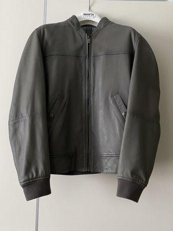 Куртка кожаная бренда Massimo Dutti