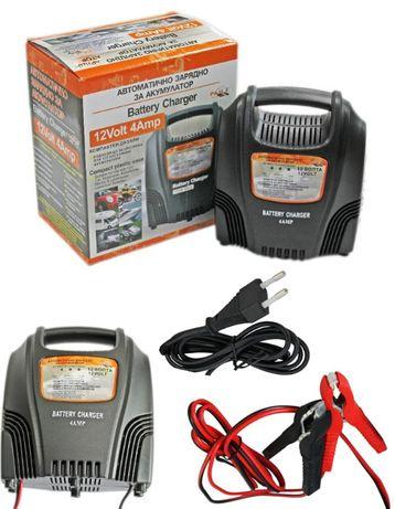 Автоматично Зарядно за Акумулатор 4 Амп. ампера 12в 12V Кола Мотор АТВ