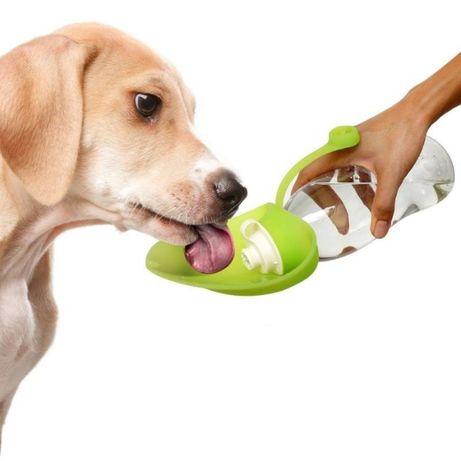 Преносима поилка ЕКО Листо за куче 650 мл