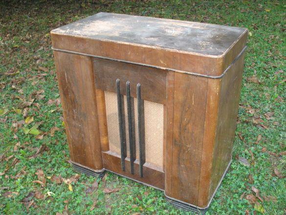 ALBA 475B, 1948 г. - ретро радиошкаф + грамофон с чейнджър.