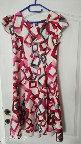 Rochie roz cu imprimeu