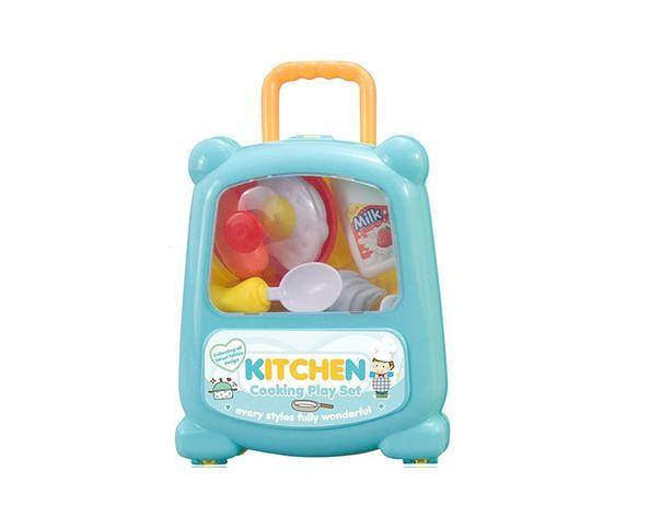 Set de jucării pentru copii - bucatarie in valiza