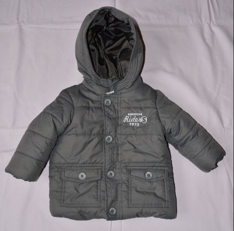 Jacheta geaca iarna pt copii, OVS Fagottino, gri, mar. 74 / 9-12 luni.