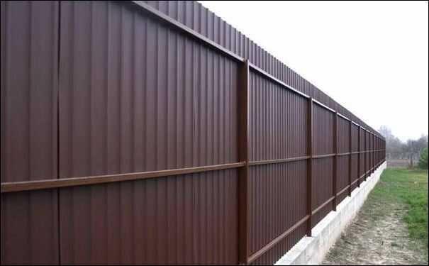 Забор из профильного листа Алматы