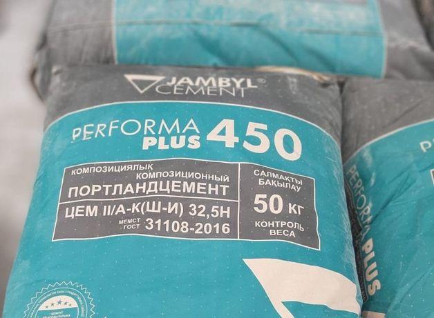 Цемент Джамбул М400 от 1400 тг с НДС доставка грузоперевозки, пеноблок