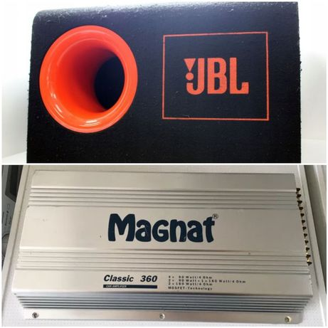 Суббуфер JBL CB 250e и усилвател Magnat classic 360e