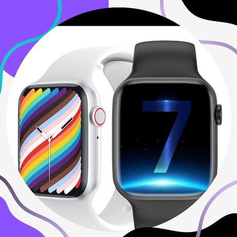 Жеткізілуі тегін ақылды сағат/су жаңа версия Apple Watch 7 /умные часы