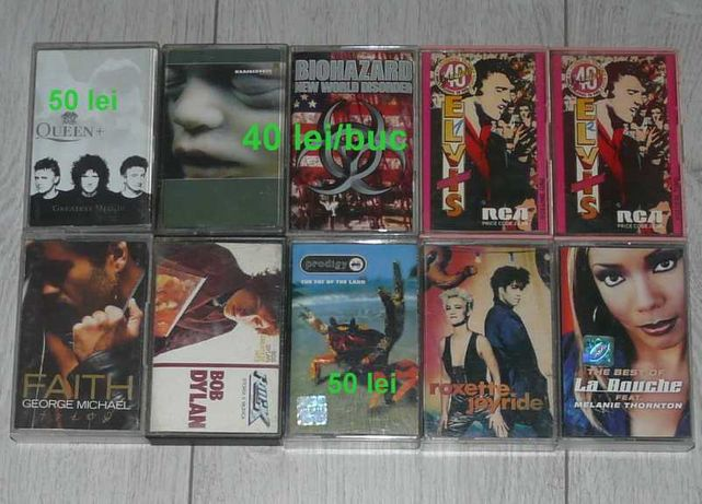 casete audio Rammstein,Roxette,Biohazard,George Michael,Dylan,Queen