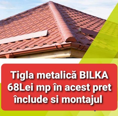 Reparatii acoperișuri montaj Tigla metalică BILKA Lindab hidroizolatii