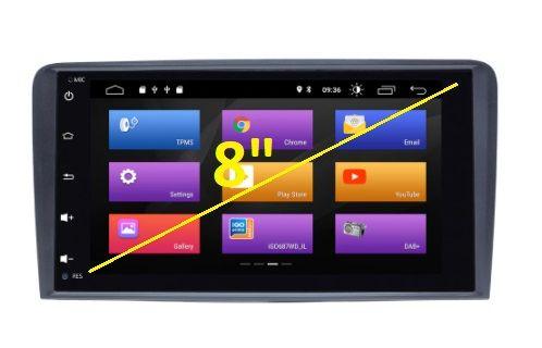 "Мултимедия 8"" Android 10 2GB RAM за Audi A3 8P Sportback навигация GPS"