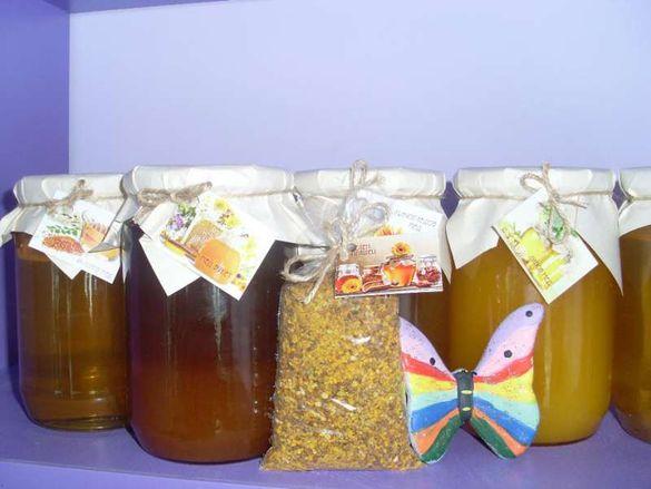 Продавам пчелен мед и прашец от района на село Радишево, Плевенско.