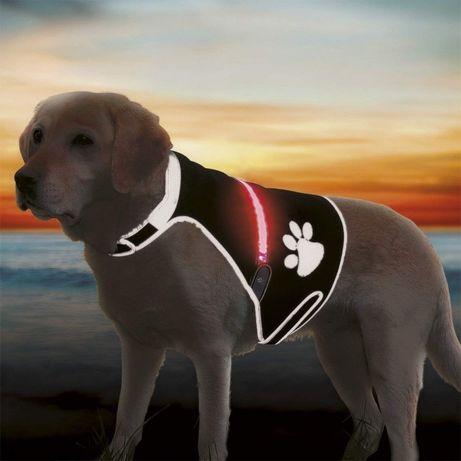 Светеща неопренова жилетка за кучета размер М от Trixie