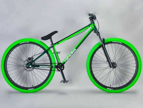 НОВИ цяло колело MAFIA BLACKJACK GREEN dirt jump 26 цола велосипед