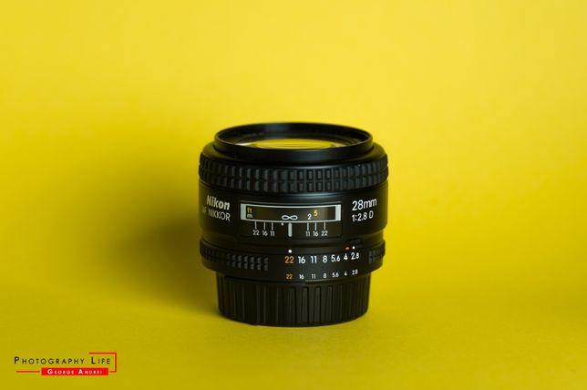 Obiectiv Nikon 28mm f2.8D - impecabil