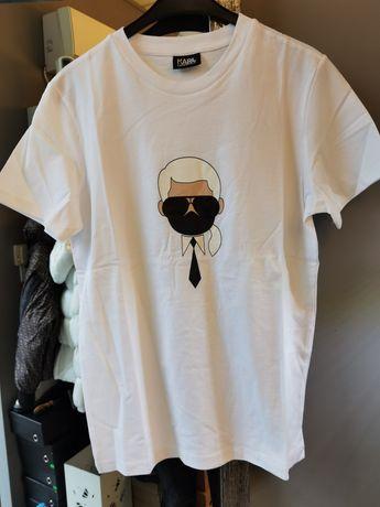 Бяла мъжка тениска Karl Lagerfeld S-XXL