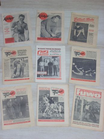 Оригинални стари футболни вестници от Германия 1957, 1960, 1961, 1965