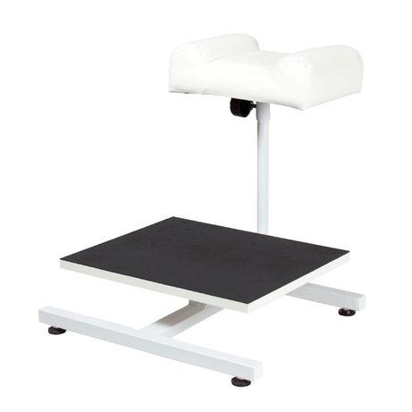 *Поставка за педикюр (механична) със стойка за ваничка- бяла/черна