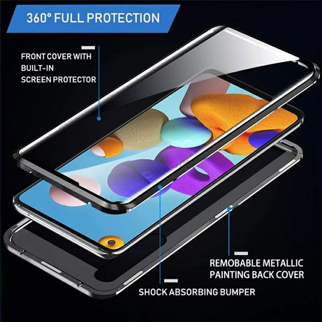 Двоен Магнитен Кейс за Samsung Galaxy A21s A41 A51 A71 Note 20 360