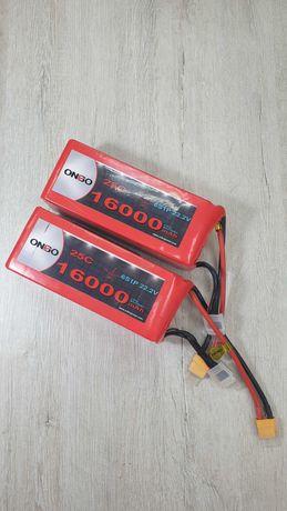Аккумуляторы ONBO 6S 16000mAh 20C Lipo