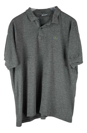 Tricou Barbati Lacoste marimea L-XL Gri Bumbac Casual AJ75