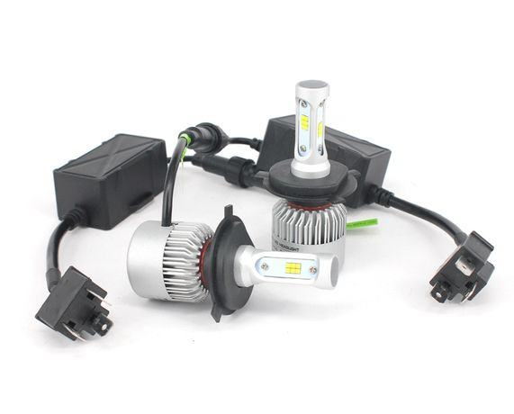 Set becuri LED H1, H3, H4, H7, H8, H11, HB3, HB4 8000LM Canbus